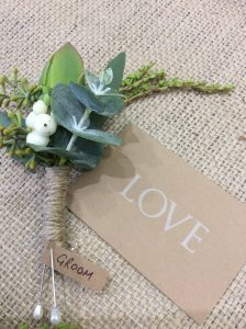 Native Textural Buttonhole- A Touch of Class Florist