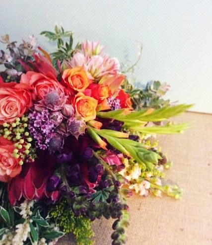 Sunset Posy Bouquet - A Touch of Class Florist