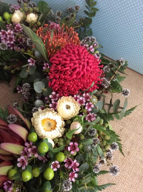 Wildflower Wreath - A Touch of Class Florist
