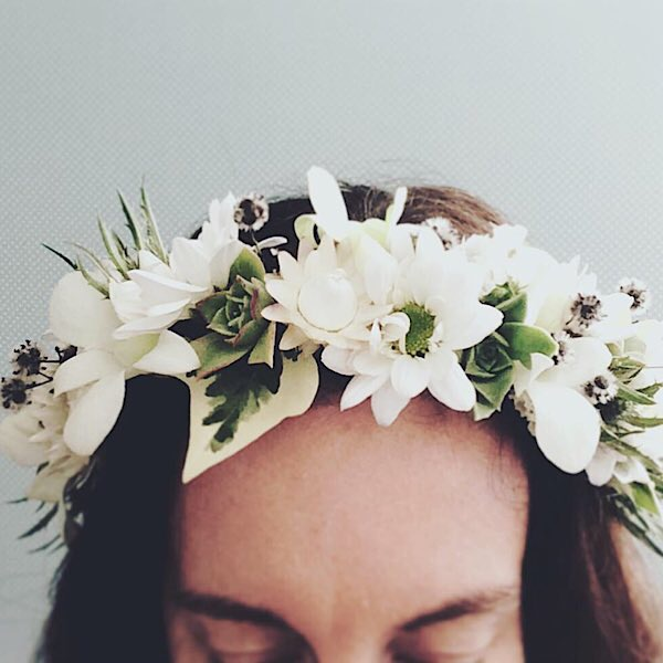 Full Flower Crown - A Touch of Class Florist