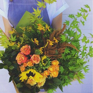 Autumnal Hand-tied Bouquet - A Touch of Class Florist