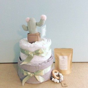 Unisex two Tier Nappy Cake - A Touch Of Class Florist Perth