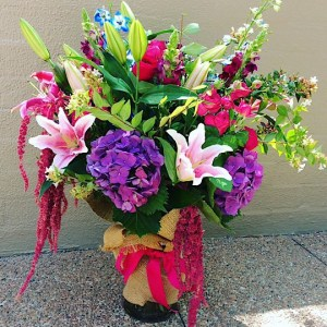 Scented Sensation Vase Arrangement is a tall glass vase arrangement filled with seasonal blooms with as much scent as is possible - A Touch of Class Florist Perth