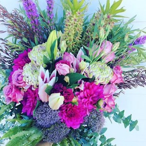 Timeless Hand-tied Bouquet is big and gorgeous bouquet filled with pink, purple and white blooms - A touch of Class florist Perth