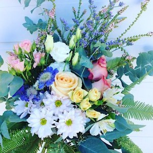 Sympathy Hand-tied Bouquet is made from the best seasonal blooms in soft pastels - A Touch of Class Florist Perth
