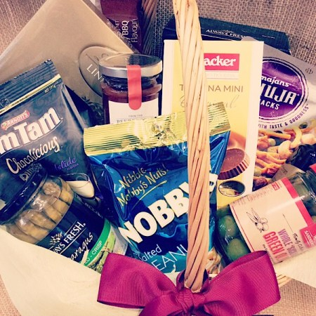 Hamper of gourmet snacks- A Touch of Class Florist