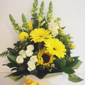 Lemon Meringue Flower Arrangement- A Touch of Class Florist
