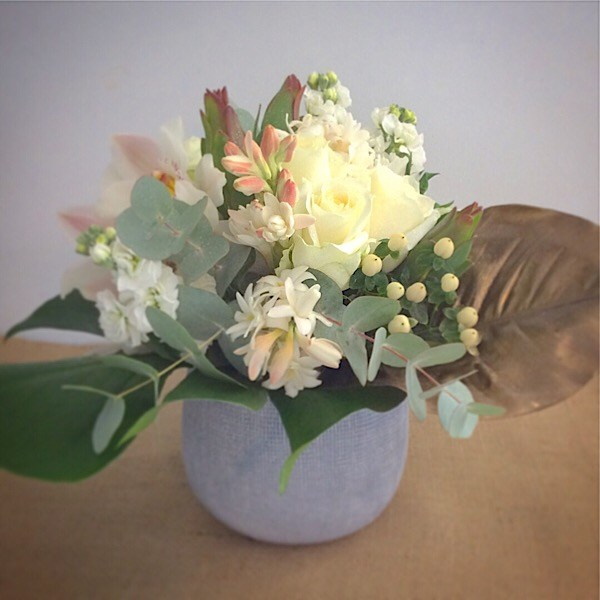 Secret Garden Ceramic Vase Arrangement- A Touch of Class Florist