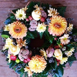 Medium Sized Seasonal Wreath - A Touch of Class Florist