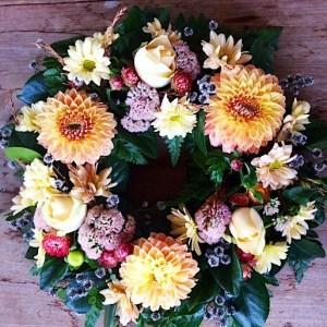 Medium Sized Seasonal Wreath - A Touch of Class Florist