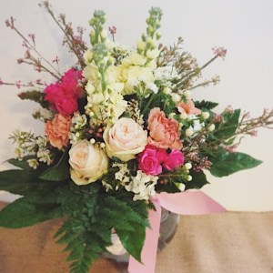 Feminine Fishbowl Arrangement - A Touch of Class Florist
