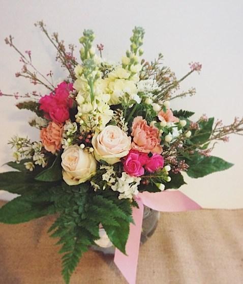 Feminine Fishbowl Arrangement - A Touch of Class Florist