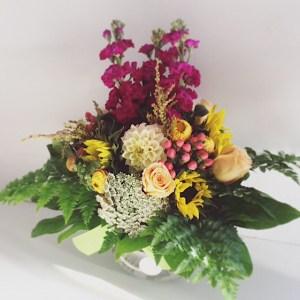 Hazy Daze Fishbowl Arrangement - A Touch of Class Florist