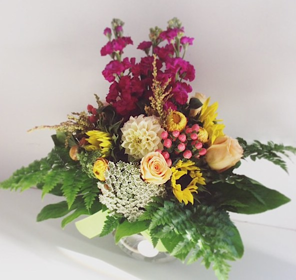 Hazy Daze Fishbowl Arrangement - A Touch of Class Florist
