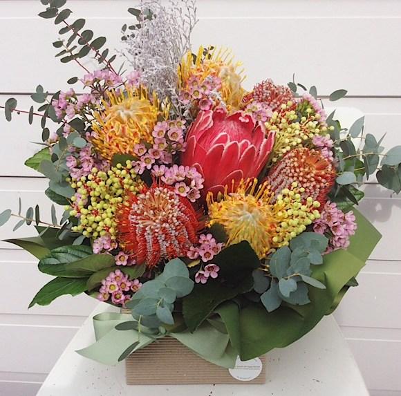 Native Box Arrangment - A Touch of Class Florist