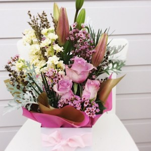 Cute Posy Box Arrangment - A Touch of Class Florist