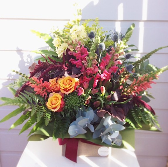 Spring Surprise Box Arrangement - A Touch of Class Florist
