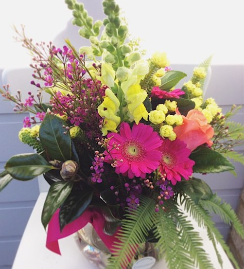 Hazy Daze Fishbowl Arrangement 2 - A Touch of Class Florist