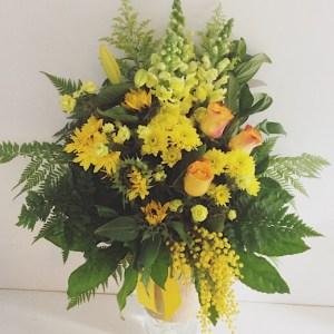 Sunshine Vase Arrangement - A Touch of Class Florist