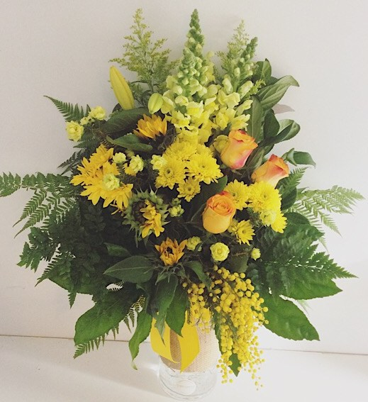 Sunshine Vase Arrangement - A Touch of Class Florist