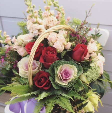 Cottage Flower Basket Arrangement - A Touch of Class Florist
