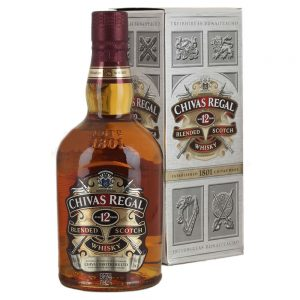 a 700ml bottle of chivas regal 12 year blended scotch whiskey