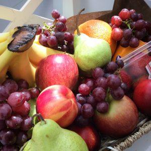 a seasonal fruit basket