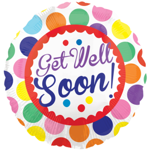 an 18 inch get well soon helium balloon