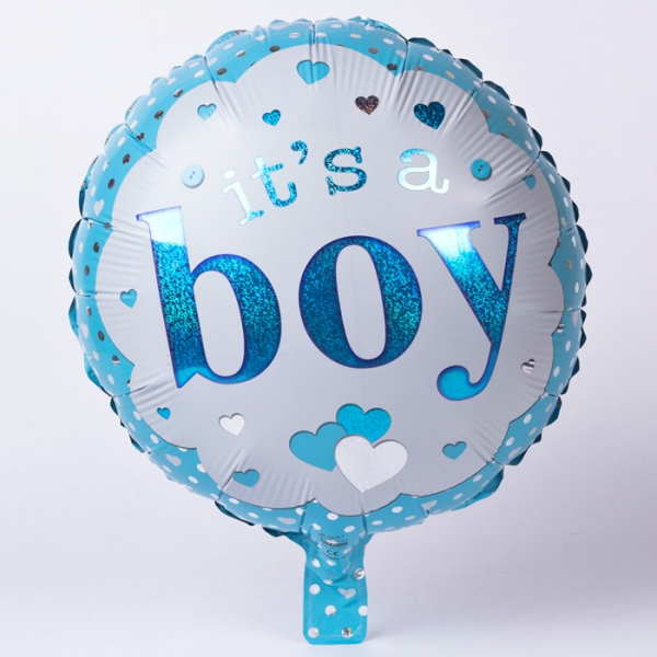 18 inch foil its a boy helium balloon