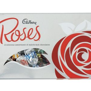 a box of cadbury's roses chocolates