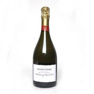 a bottle of jacobs creek sparkling wine