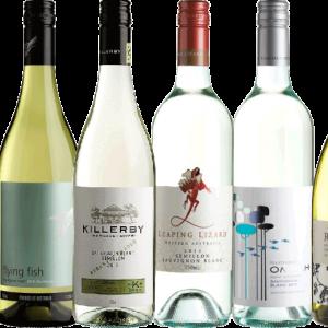 a selection of australian white wine