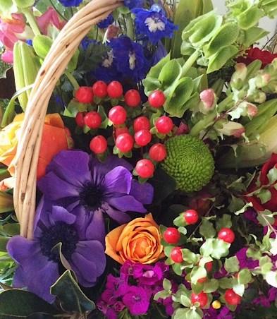 Basket of Joy Arrangement - A Touch of Class Florist