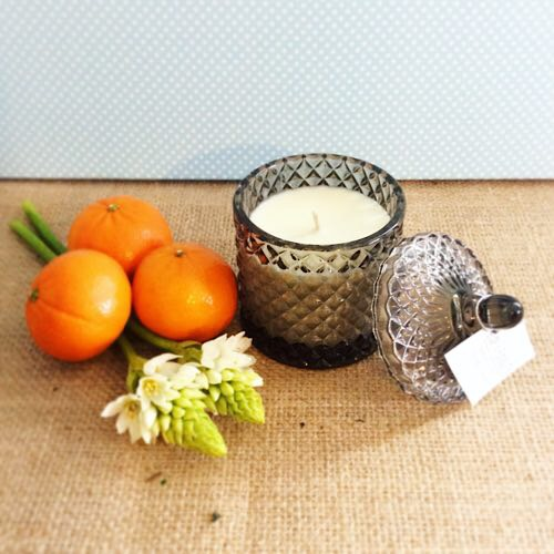 Bear and Finn Lime Basil and Mandarin Scented Candle - A Touch of Class Florist