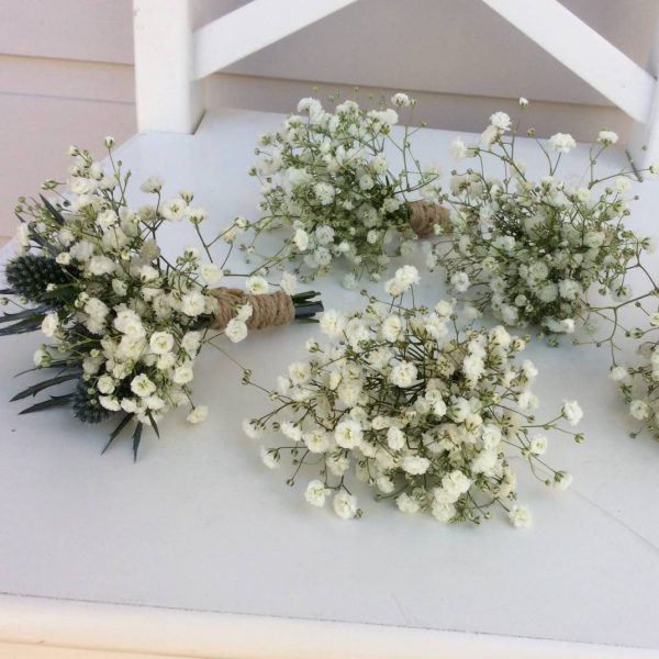 Baby's Breath Buttonhole- A Touch of Class Florist
