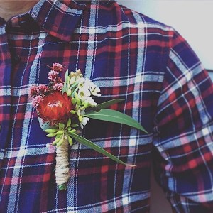 Deluxe Buttonhole, flowers to be pinned to your top for a special occasion - A Touch of Class Florist Perth