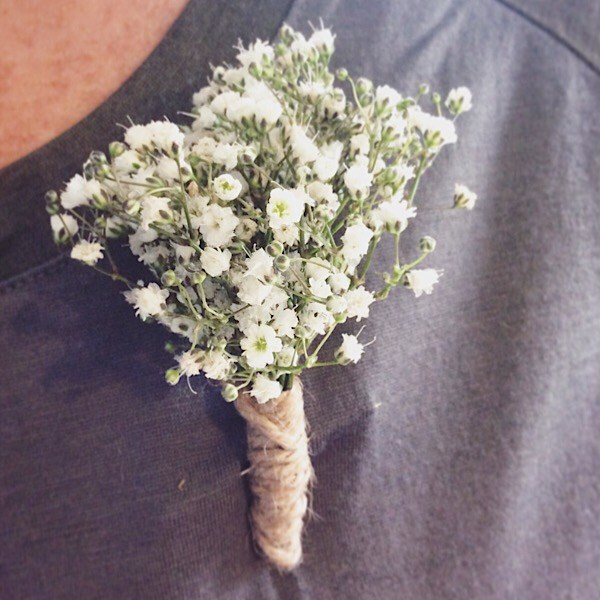 Baby's Breath Buttonhole - A Touch of Class Florist