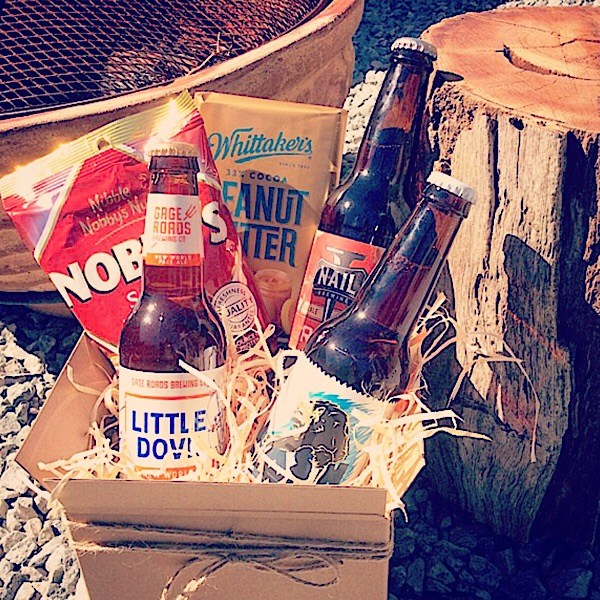 Craft Beer Hamper with chocolate and nuts