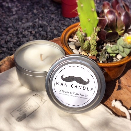 Bear and Finn scented soy Man Candle