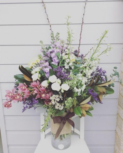 A Deluxe Garden Vase Arrangement - A Touch of class Florist