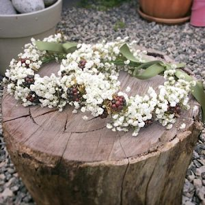 cute and simple Baby's breath flower crown- A Touch of Class florist