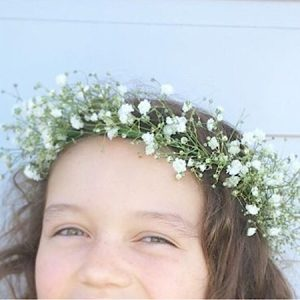 Simple but cute baby's breath flower crown- A Touch of Class Florist