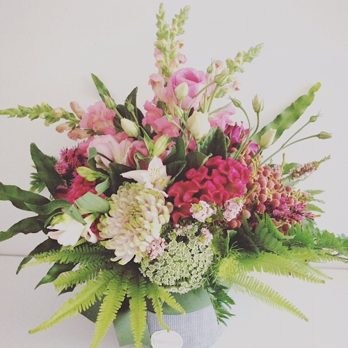 Blushing Pretty Arrangement - A Touch of Class Florist