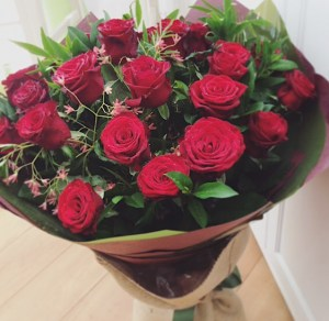For My Heart Red Rose Bouquet, 2 dozen of the best red roses - A Touch of Class Florist