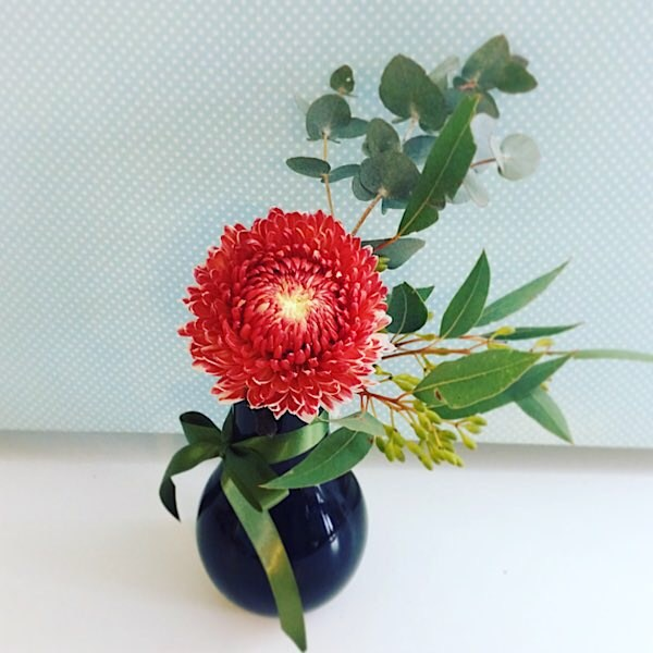 Single Bloom of the Day is a glass bud vase with single seasonal bloom placed in it. The blooms will vary daily - A Touch of class Florist Perth
