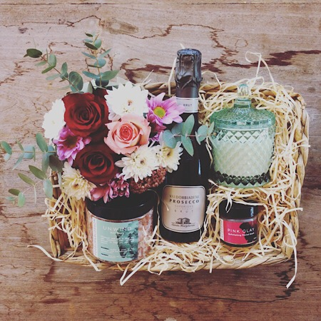A Luxury bath time hamper with all the items you need for a truly relaxing experience including some beautiful flowers to soak with