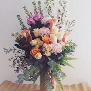 Large Seasonal Choice Cylinder Vase Arrangement - A Touch of Class Florist