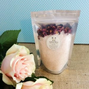 Salted Bliss Bath Salts in Rose and Ylang-Ylang - A Touch of Class Florist