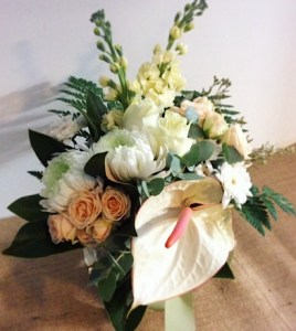Corporate Vase Arrangement in neutral tones - A Touch of Class Florist