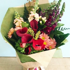Colour Pop Hand-tied Bouquet - A Touch of Class Florist